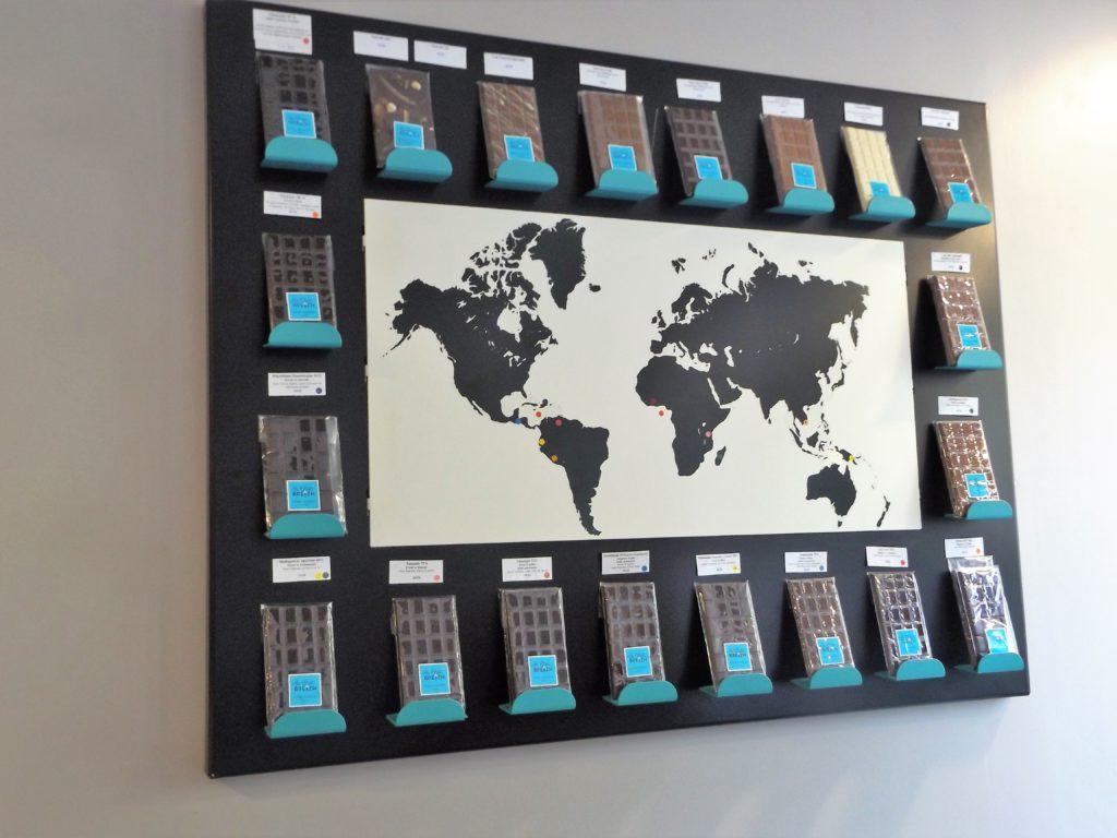 Nos tablettes de chocolat du monde