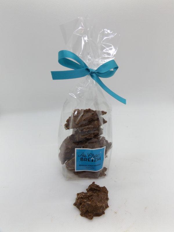 mélange subtil entre le chocolat, la crèpe dentelle et une pointe de fleur de sel